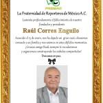 DOBLE LUTO POR LA PARTIDA DE DOS GRANDES AMIGOS, RAÚL CORREA Y ALFREDO GÓMEZ