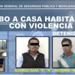 POLICÍAS DE TEXCOCO ASEGURAN A TRES POR ROBO CON VIOLENCIA A CASA HABITACIÓN