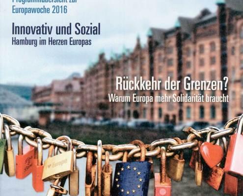 Programmheft zur Europawoche Hamburg 2016