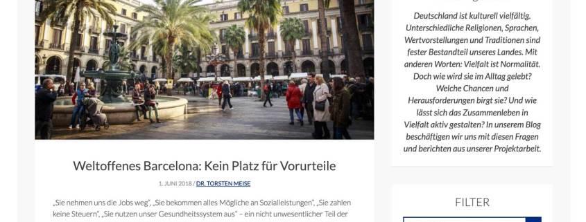 Screenshot Blog.Vielfaltleben