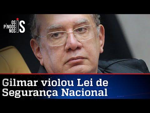 Ministério da Defesa lista crimes de Gilmar Mendes