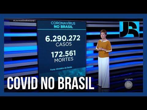 Coronavírus: Brasil registra 172.561 mortes, 587 nas últimas 24 horas