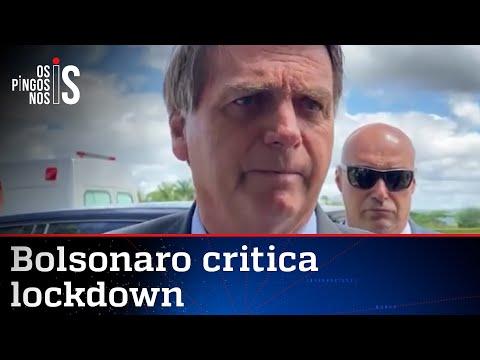 Bolsonaro diz que população não pode viver em pânico