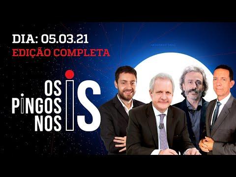 Os Pingos Nos Is – 05/03/21 – BARROSO, HUCK E LEITE X BOLSONARO/ DORIA INTRANSIGENTE/ PESQUISAS