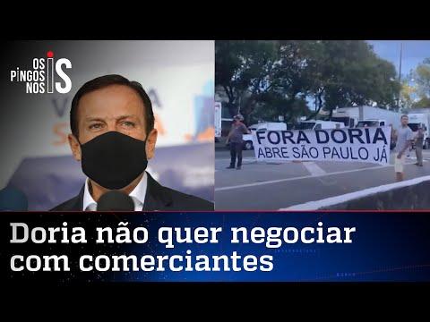 Doria nega flexibilização em SP, mesmo com protestos