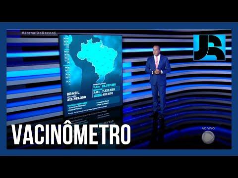 Vacinômetro: 23.757.581 (11,22%) brasileiros receberam a primeira dose