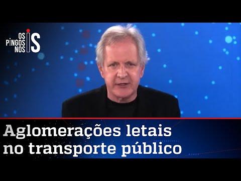 Augusto Nunes: Aglomerações letais no transporte público são ignoradas por Doria