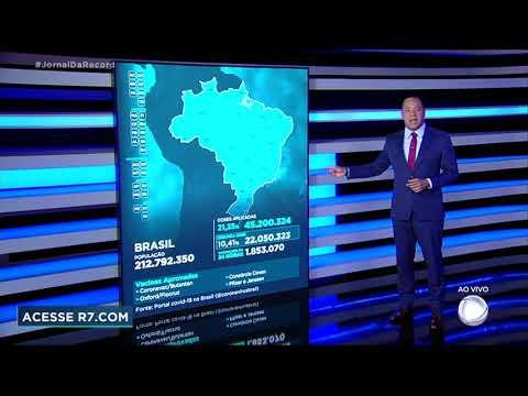 Vacinômetro: 45.200.324 (21,35%) brasileiros tomaram a primeira dose
