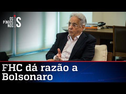 FHC diz agora o que Bolsonaro dizia há um ano