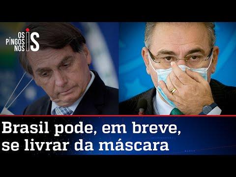 Bolsonaro pede a ministro da Saúde estudo que pode tirar obrigatoriedade da máscara