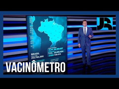 Vacinômetro: mais de 55 milhões de brasileiros receberam a 1ª dose