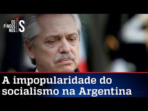 Popularidade de Alberto Fernández derrete entre os argentinos