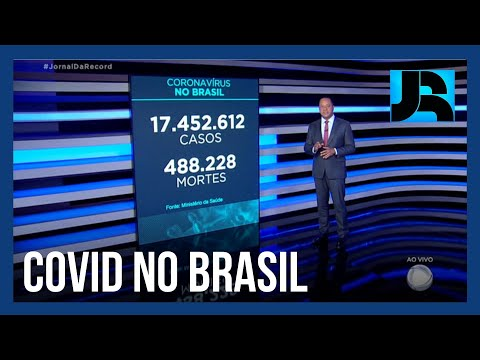 Coronavírus: Brasil registra 488.228 mortes, 827 nas últimas 24 horas