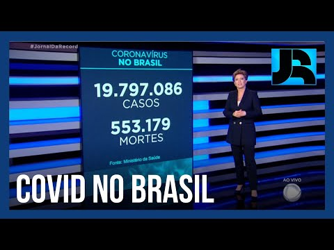 Coronavírus: Brasil registra 553.179 mortes, 1.344 nas últimas 24 horas