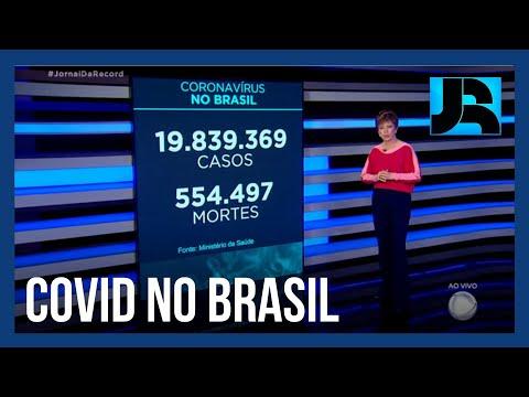 Coronavírus: Brasil registra 554.497 mortes, 1.318 nas últimas 24 horas
