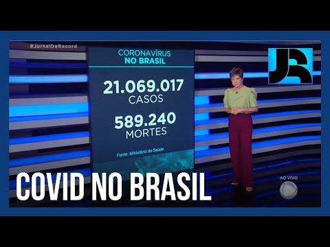 Coronavírus: Brasil registra 589.240 mortes, 643 nas últimas 24 horas