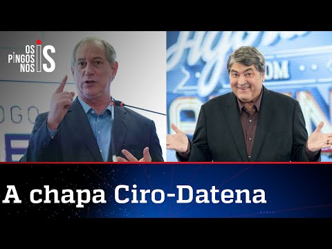 PDT quer Datena como vice de Ciro Gomes