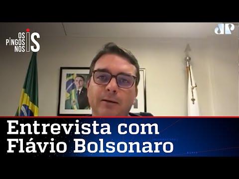 EXCLUSIVO: Flávio Bolsonaro comenta depoimento de Hang à CPI