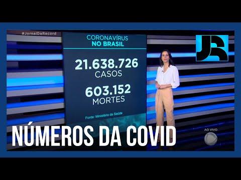 Brasil tem mais de 603 mil mortos por covid-19