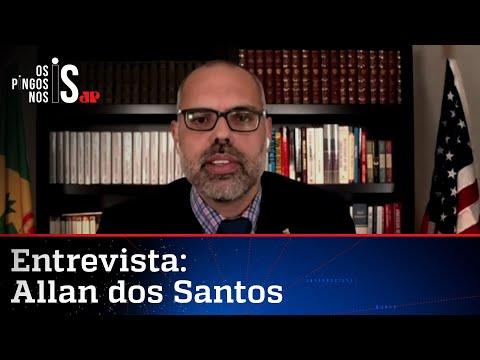 """EXCLUSIVO: Allan dos Santos comenta pedido de prisão: """"Perseguição abjeta"""""""