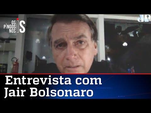 """EXCLUSIVO: Bolsonaro rebate imprensa: """"Não fui à Vila Belmiro"""""""