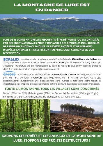 Mobilisation pour la montagne de Lure, à Ongles (Alpes-de-Haute-Provence)