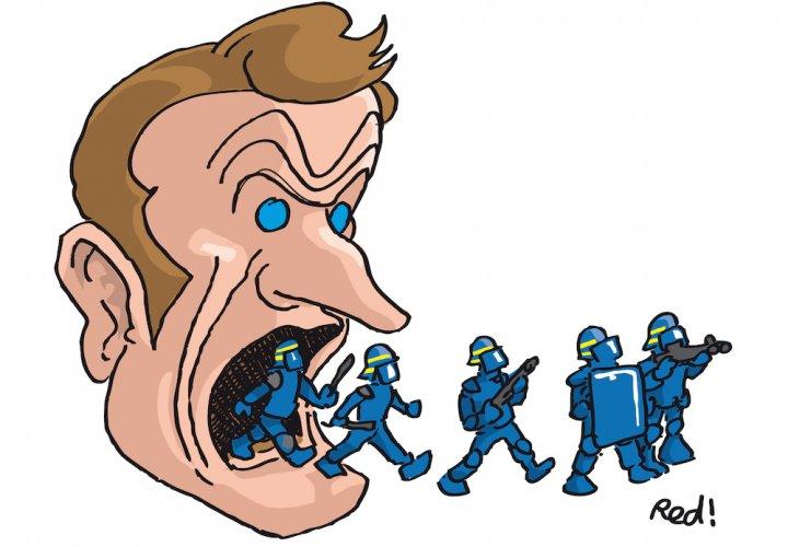 Macron veut empêcher les journalistes de témoigner