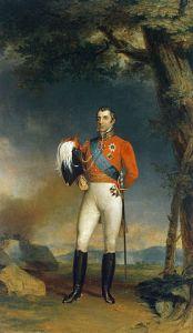 Arthur Wellesley, Duque de Wellington ( 1769 – 1852). Óleo sobre tela, George Dawe (1781–1829). Galeria Militar do Palácio de Inverno, São Petersburgo, Rússia.