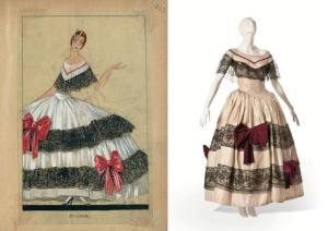 Figurino e vestido Lanvin, para Catalina Bárcena, na sua interpretação de Dama das Camélias. Christie's Images Ltd.2012, Archivo Catalina Bárcena Madrid