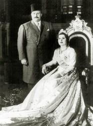 Rei Farouk e a sua segunda mulher, a Rainha Nariman