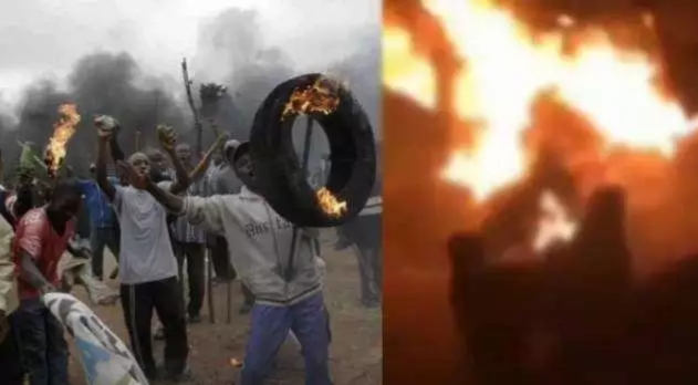 Jungle Justices: 1Million boys caught burnt to ashes in Gbagada