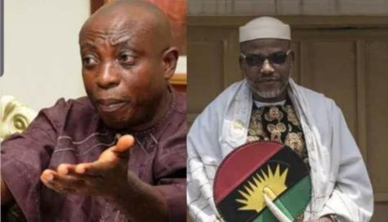 To hell with Nnamdi Kanu Biafra if Igbo leaders are not respected – Uwazuruike blast MNK