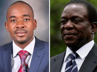 MDC-T President Nelson Chamisa and Emmerson Mnangagwa