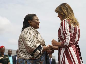 Melania Trump arrives in Ghana, 1st stop on Africa tour