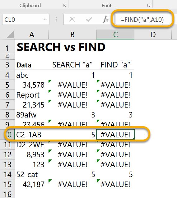 SEARCHvsFIND