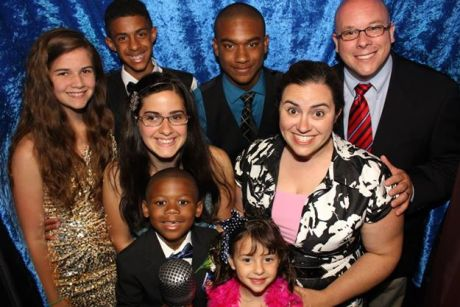 Maureen Centa and her family at an event. Photo provided by Centa