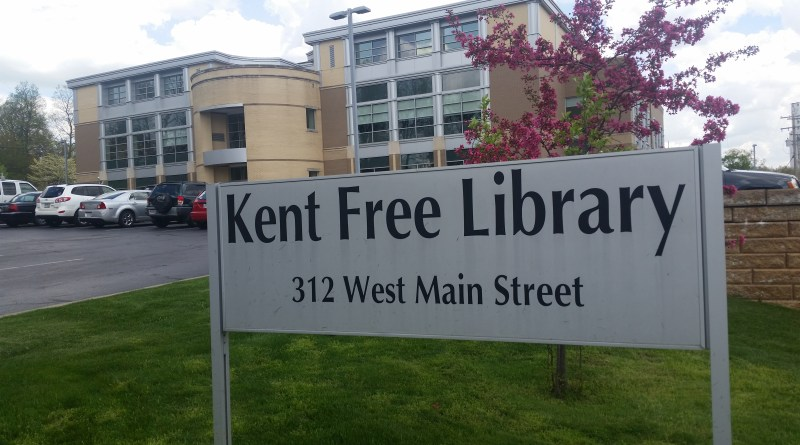 Kent Free Library sign