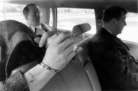 Dennis Monaghan under arrest