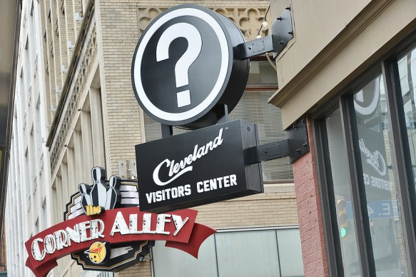 Downtown Cleveland signs