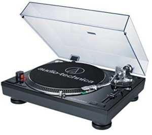 Audio Technica AT-LP120BK-USB Direct-Drive Professional Turntable (USB & Analog), Black