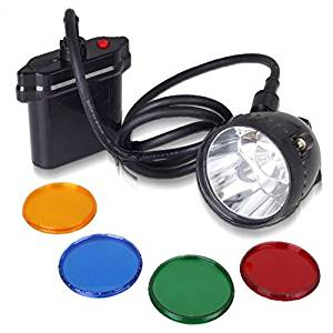 Kohree 80000LUX CREE 10W XML U2 LED Coyote Hunting Light KL11LM Mining Headlamp Headlight-With 4 Optical Filters