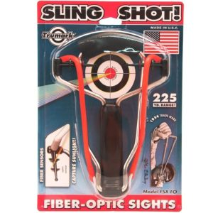 Trumark Folding Slighshot with Rotating Fiber Optic Sight