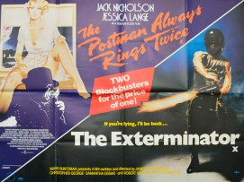 exterminator postman always rings twice - cinema quad movie post