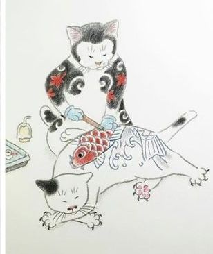 japanese-tattoo-cats-kazuaki-horitomo-2