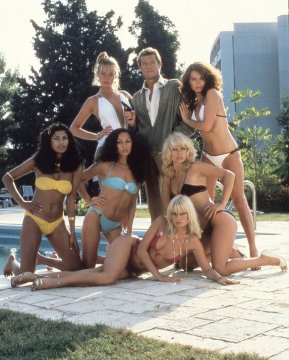 Roger Moore and the Bond Girls