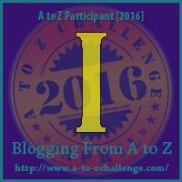 A-to-Z Bloghop logo w/letter I