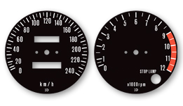Decals for Classic 197275 Kawasaki Z1, Labels, Stickers