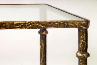Giacometti End Bronze Table-Detail Angle Leg