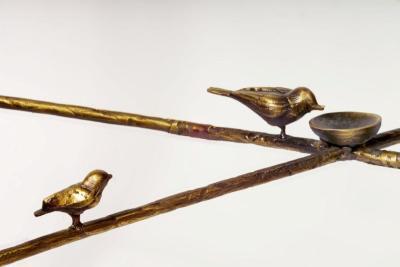Giacometti End Bronze Table Detail Bird
