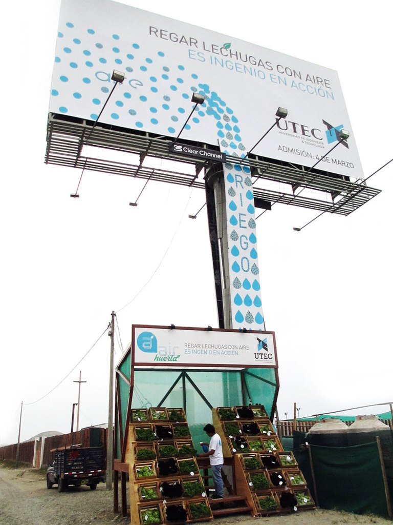 Hydroponic Food from a Repurposed Billboard: Air Orchard